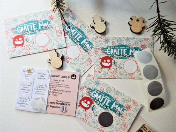 pack 5 cartes joyeuses fêtes