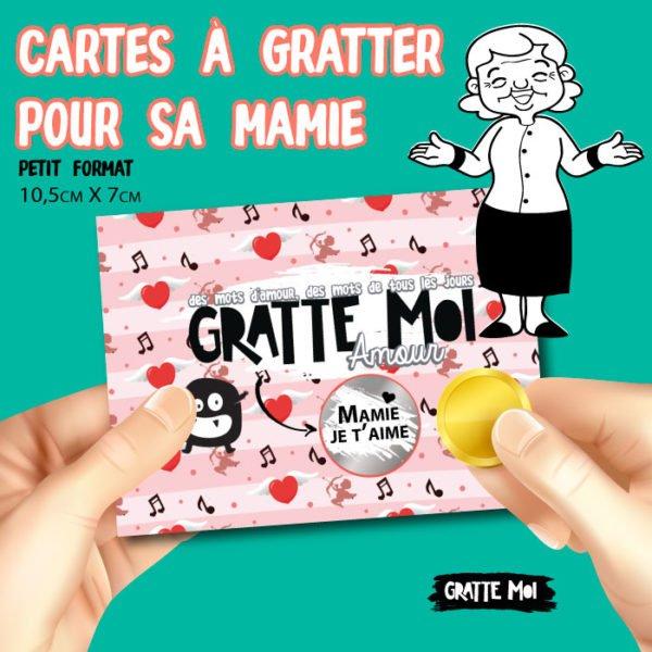 carte à gratter pour mamie grand mère